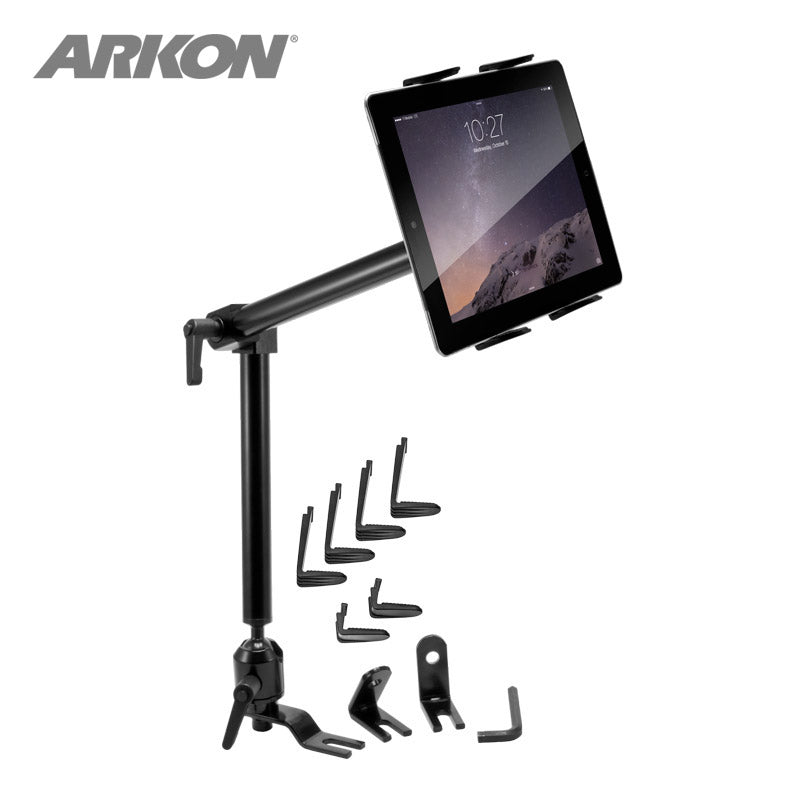 "Arkon TAB801 Heavy-Duty Car - Truck Seat Rail Tablet Mount with 22"" Arm for iPad Samsung Galaxy LG SONY (sku 36882)"