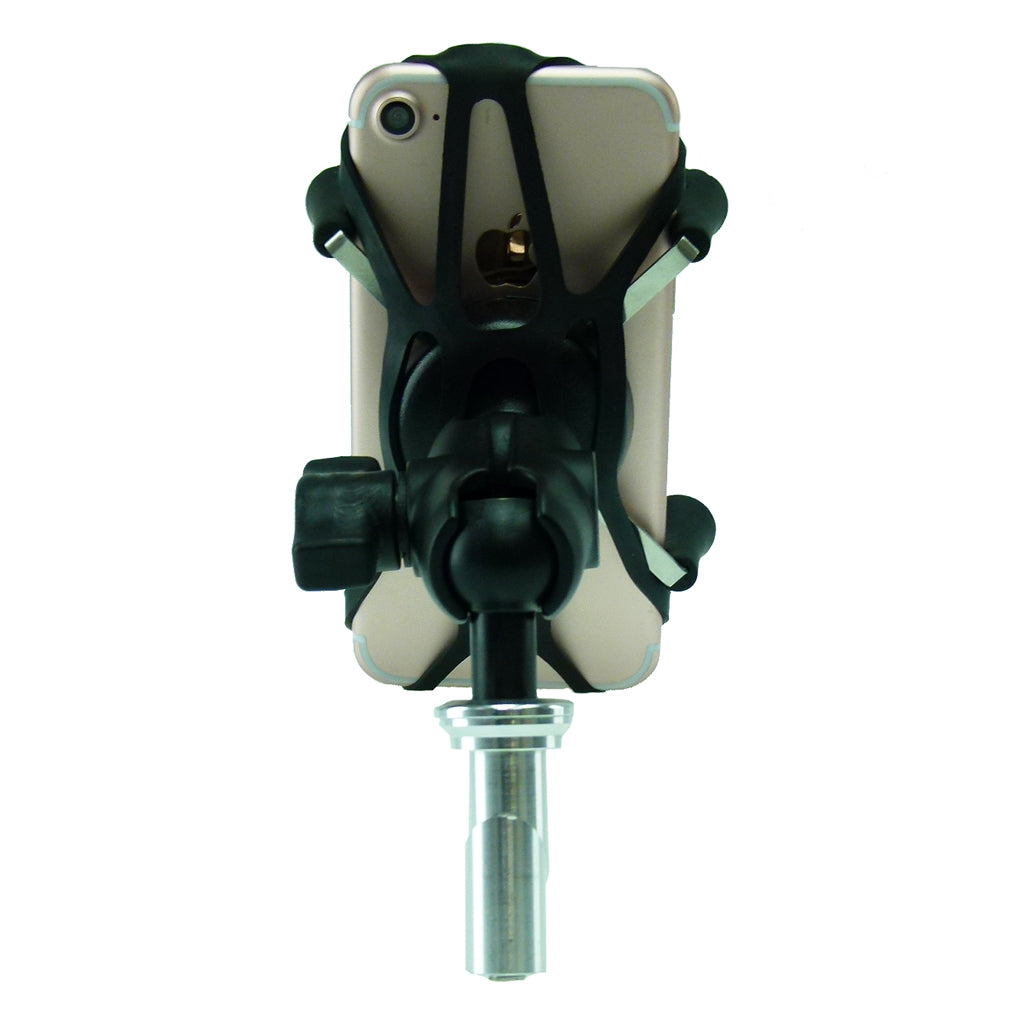 17.5-20.5mm Motorcycle Fork Stem Yoke Mount with Phone Holder for iPhone 7 (sku 35922)