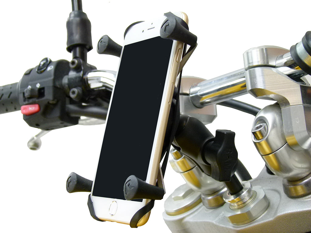 17.5-20.5mm Motorcycle Fork Stem Yoke Mount with Holder for iPhone 7 Plus (sku 35926)
