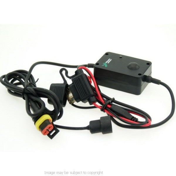 Straight Mini USB Direct to Battery Motorcycle Charger for TomTom GPS SatNav (SKU 10057)