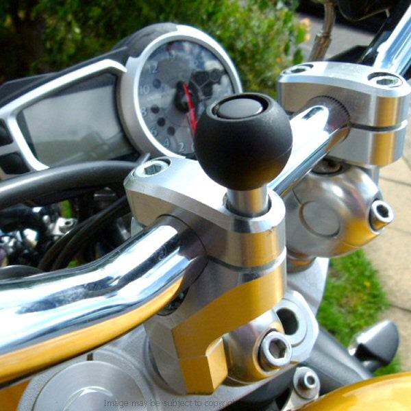 Weather Resistant Samsung Galaxy S10 5G Motorcycle M8 Handlebar Clamp Mount (sku 44395)