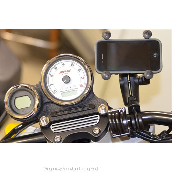 RAM X-Grip iPhone 5s Holder with Double Socket Arm and U-Bolt Handlebar Mount (sku 18236)