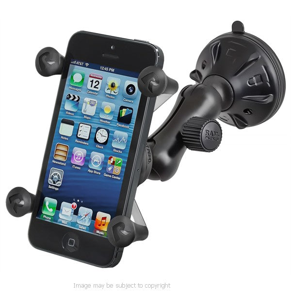 RAM X-Grip iPhone 5c Holder with Small Twist Lock Suction Cup Mount (sku 18400)