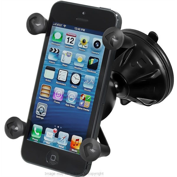 RAM X-Grip iPhone 5s Holder with RAM Mighty-Buddy Suction Cup Mount (sku 18418)