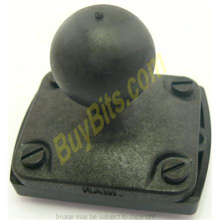Herbert Richter 4 lugg mounting system on a RAM 1inch Ball mounting fixture for use with RAM Motorcycle Mounts (sku 7283)
