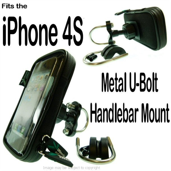 IPX4 Metal U Bolt iPhone 4S Motorcycle Mount (sku 15185)