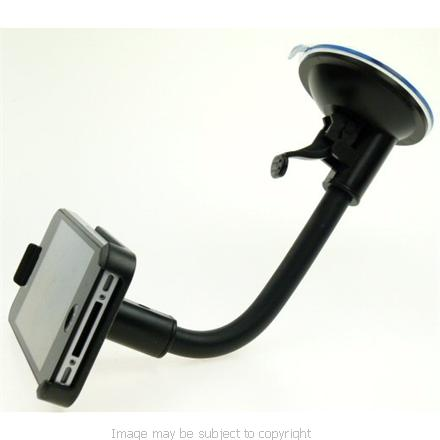 Ultimate Addons Flexible Goose Neck Windscreen Suction Cup Mount with Dedicated Apple iPhone 4 Holder (sku 7647)