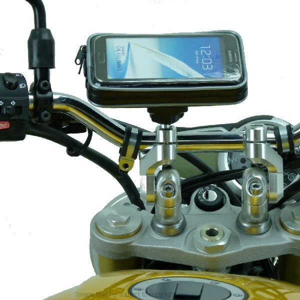 Weather Resistant Samsung Galaxy Note 3 Motorcycle M8 Handlebar Clamp Mount (sku 18111)