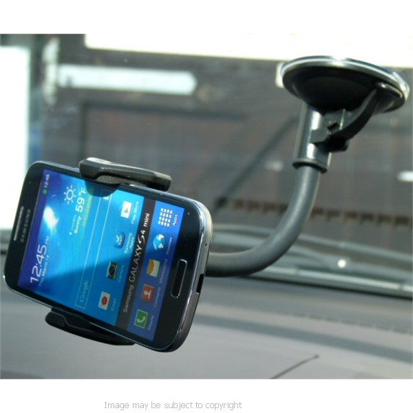 Samsung Galaxy S4 Mini Gooseneck Flex Car Window Mount (sku 17242)