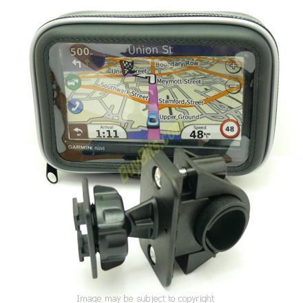 Bike Mount & Waterproof Protective Case for Motorcycle, Motorbike or Bicycle Handlebars fits TOMTOM ONE GPS Sat Nav Systems (SKU 6520)