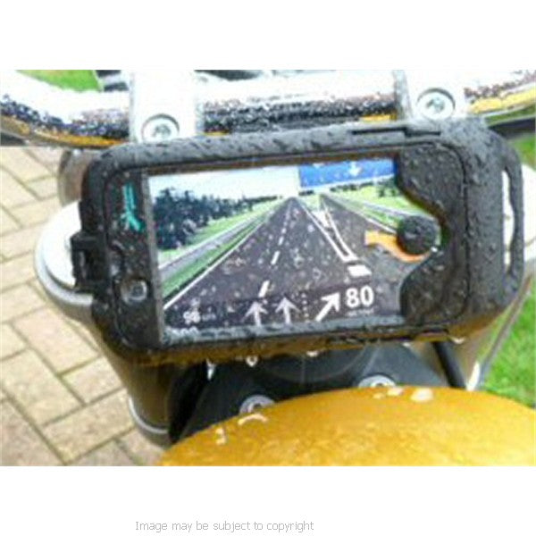 Honda VFR800 (all years) 19mm Central Fork Stem Yoke Motorcycle Mount & Waterproof TOUGH Case for the Apple iPhone 4S (sku 13435)