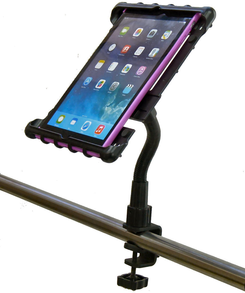 Heavy Duty C-Clamp Cross Trainer Treadmill Gym Tablet Holder for iPad AIR (sku 34278)