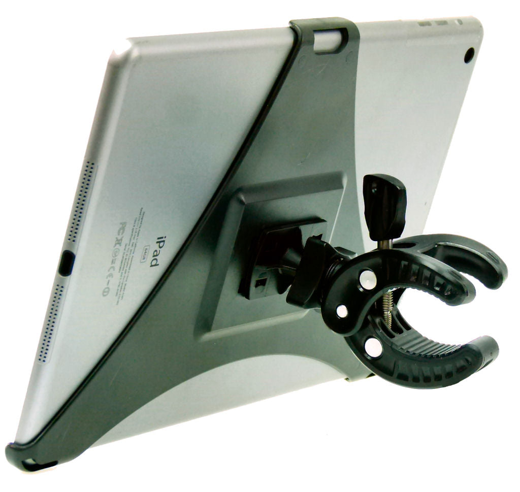 Deluxe Dedicated Clamp Mount Holder for iPad AIR fits Desk Shelf Rail (sku 34392)