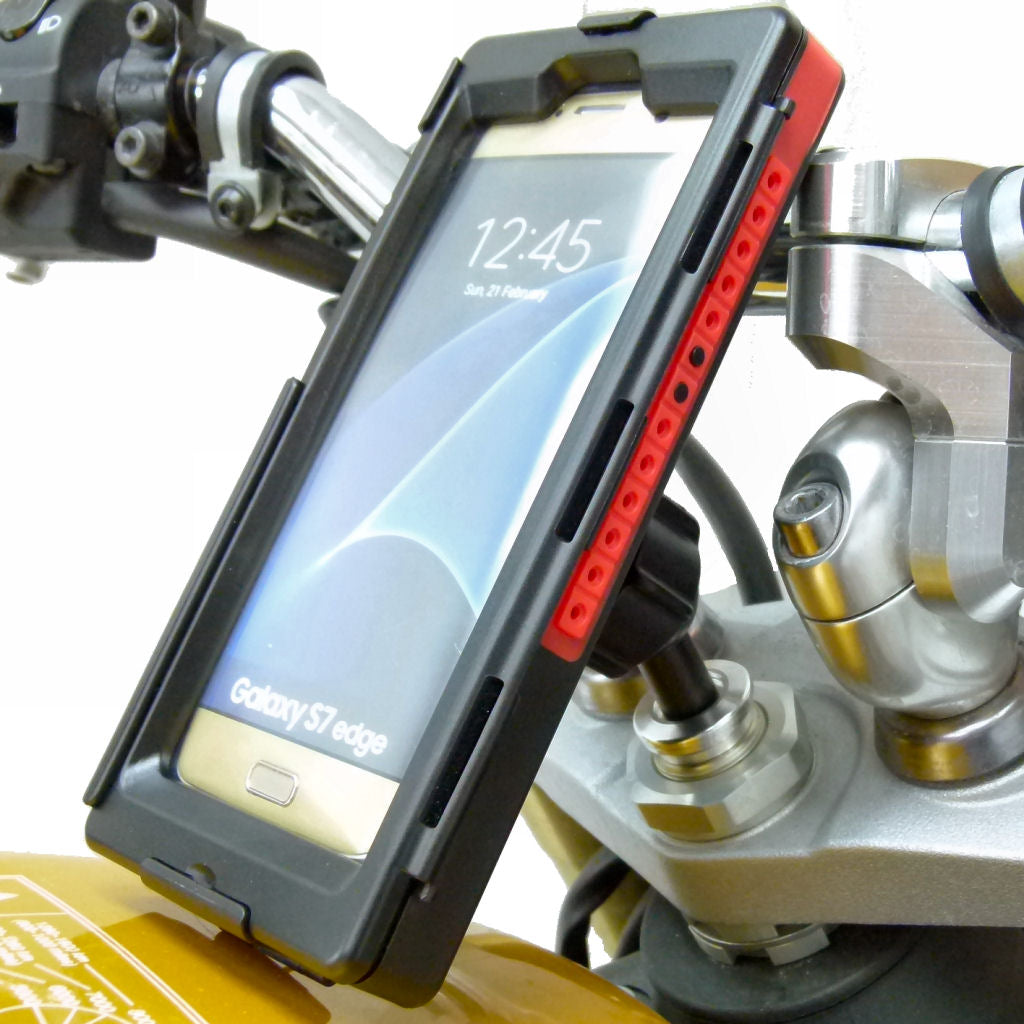 13.3-14.7mm Motorcycle Stem Mount & Tigra Bespoke SMART5 Case for Samsung Galaxy S7 Edge (sku 34863)