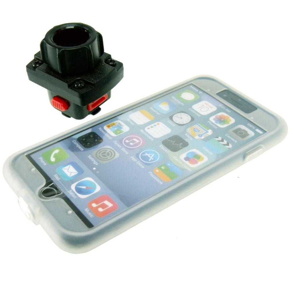 15-17mm Motorcycle Fork Stem Yoke Mount & TiGRA Case for iPhone 7 (sku 35785)