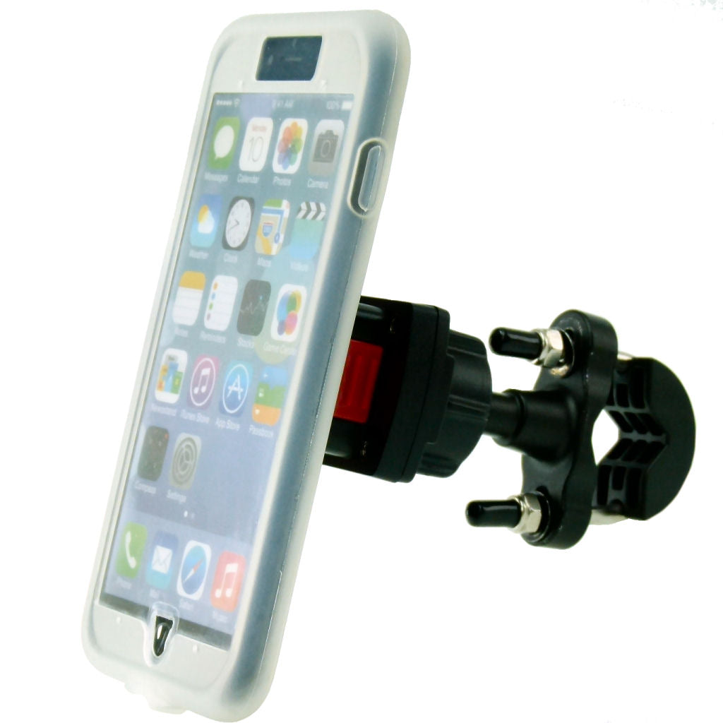 TiGRA MountCase for iPhone 7 PLUS & Metal U Bolt Handlebar Mount Bundle (sku 35787)