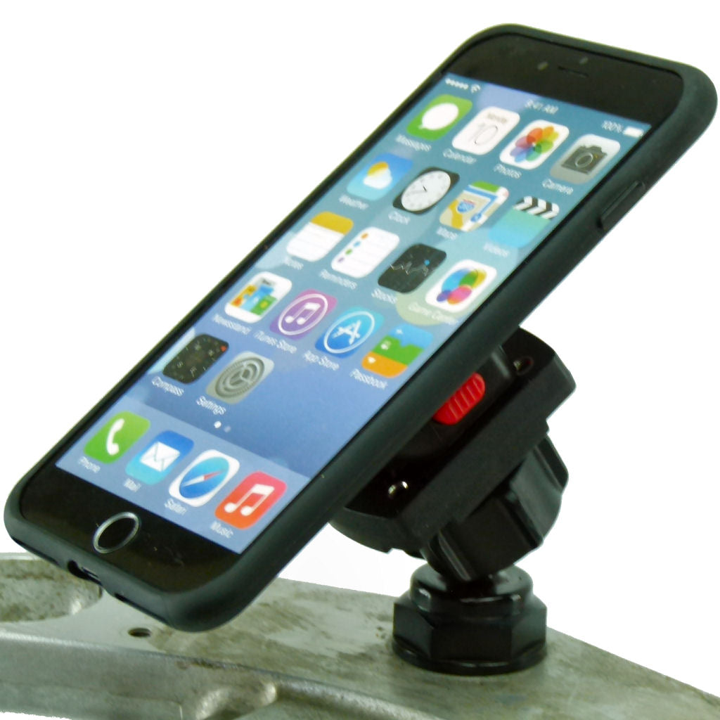 Yoke 10 Motorcycle Nut Mount & TiGRA MountCase Holder for Apple iPhone XR (sku 44102)