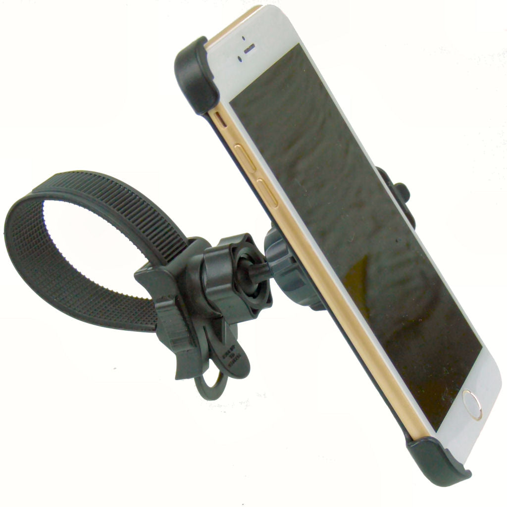 "Locking Strap Motorcycle Bike Handlebar Mount for iPhone 7 Plus (5.5"") (sku 35871)"