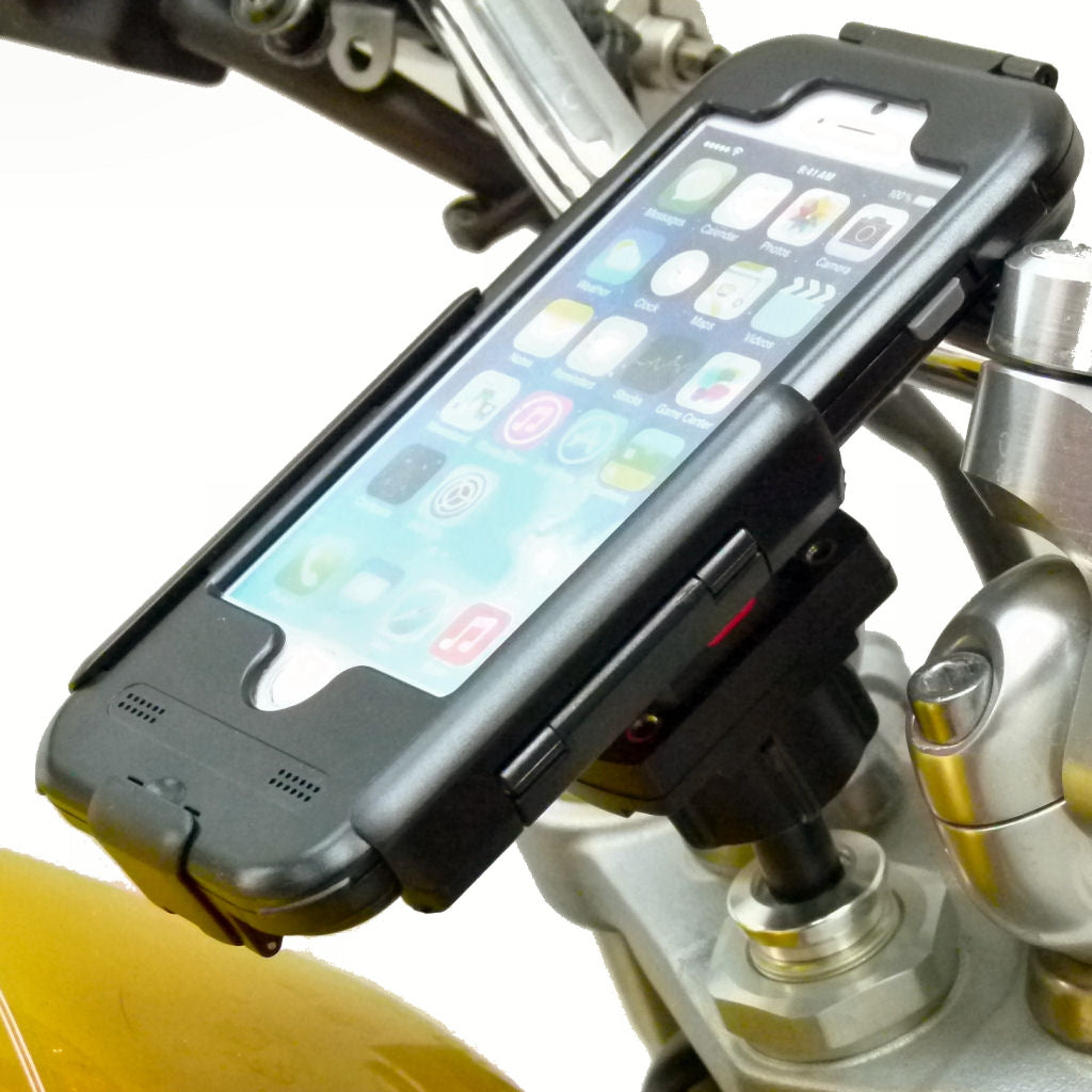"17.5-20.5mm Motorcycle Fork Stem Mount with TiGRA Waterproof Tough Case for iPhone 7 4.7"" (sku 36394)"