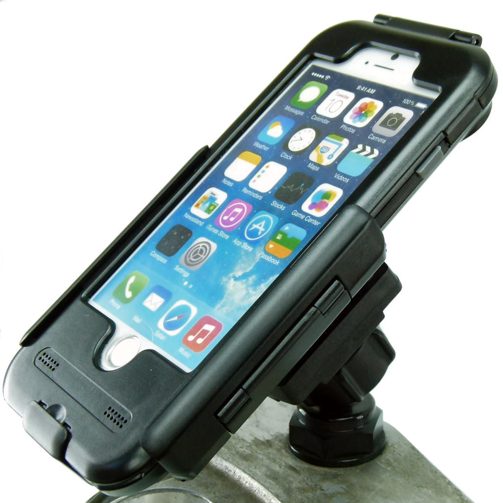 "Yoke 30 Motorcycle Nut Mount with TiGRA Waterproof Tough Case for iPhone 8 (4.7"") (sku 37994)"