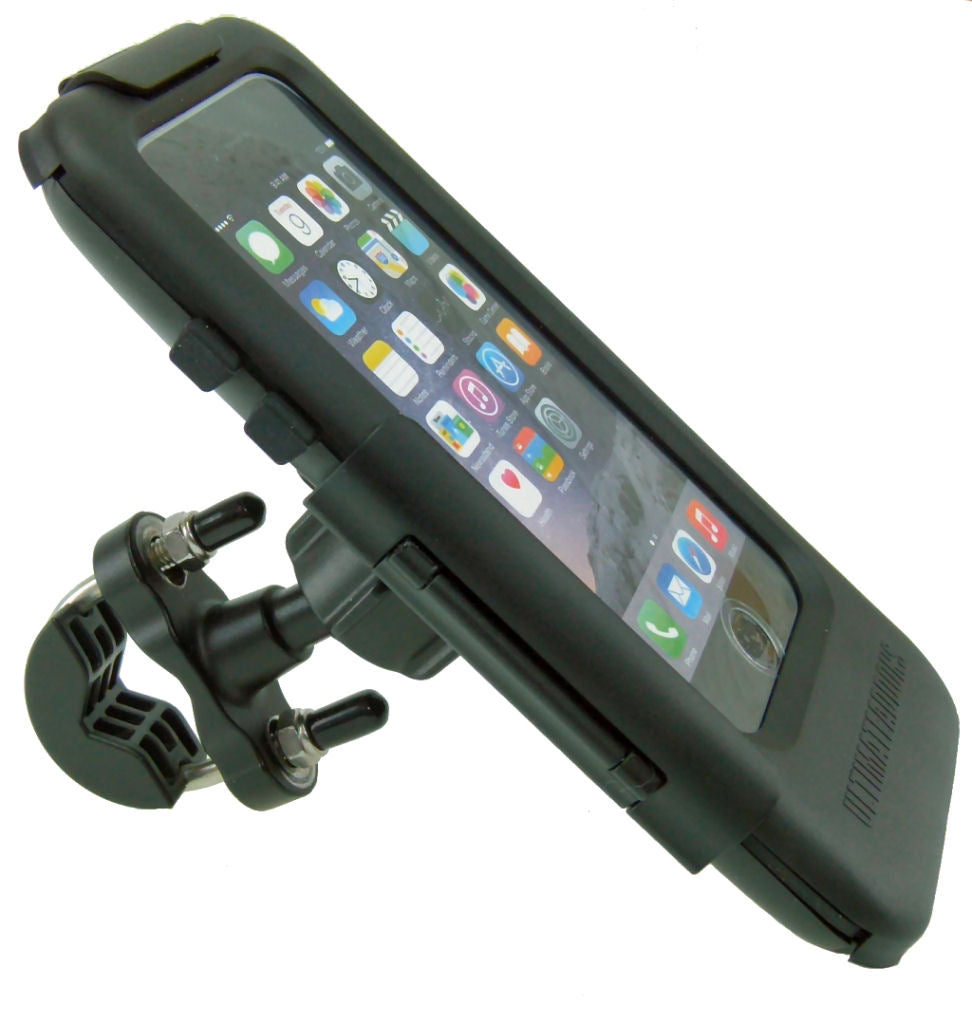 "Waterproof Metal U-Bolt Tough Case Motorcycle Bike Mount for iPhone 6S (4.7"") (sku 44914)"