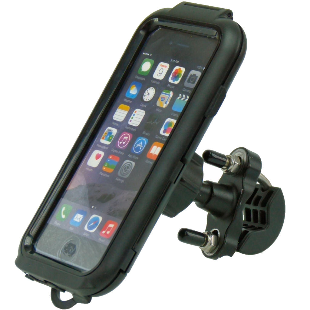 "Waterproof Compact Tough Case Metal U-Bolt Motorcycle Bike Mount for iPhone 8 (4.7"") (sku 37071)"