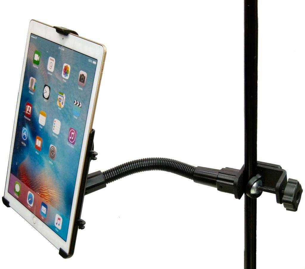 "12"" Flexi Arm Form Fit Music - Mic Stand Clamp Mount for Apple iPad Pro 12.9"" (sku 36700) - BuyBits Ltd UK"