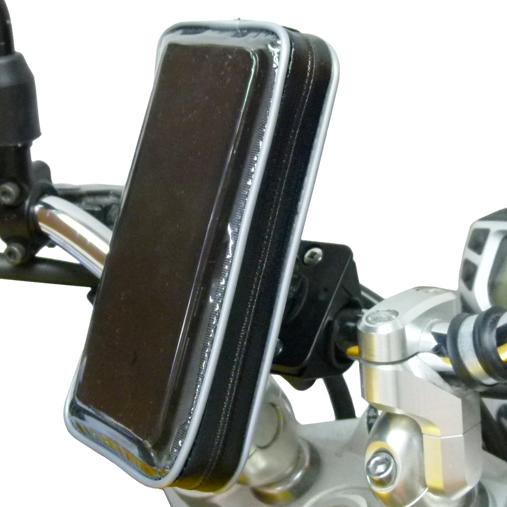 Waterproof Samsung Galaxy S10 Motorcycle Handlebar Mount (sku 44340)