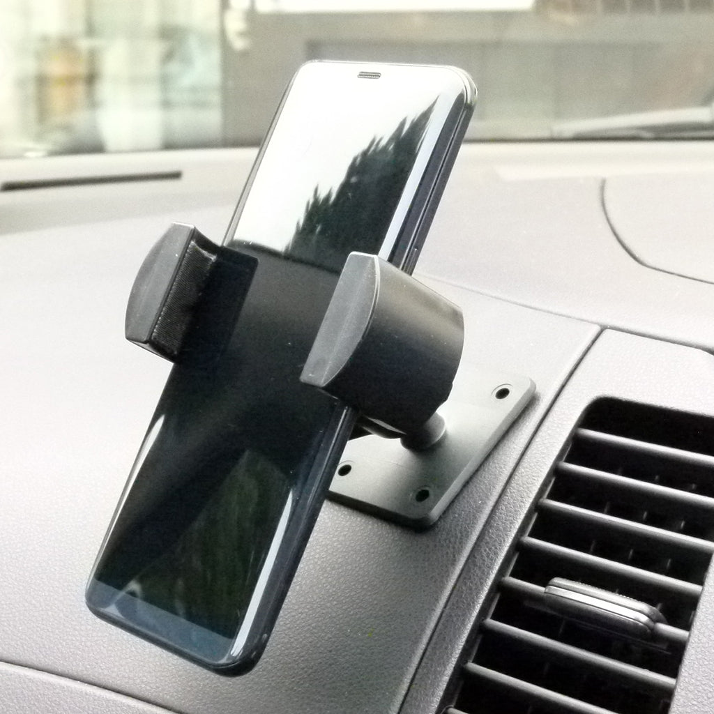 Permanent Screw Fix Large Phone Mount for Car Van Truck Dash fits Samsung Galaxy S10 (sku 44251)