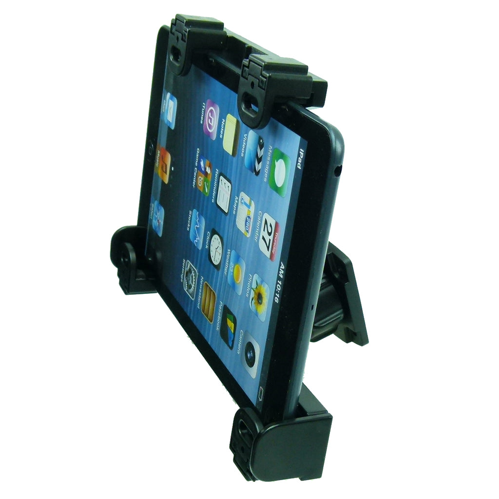 Permanent Screw Fix Adjustable Tablet Holder with Key Lock for Apple iPad Mini (sku 44086)