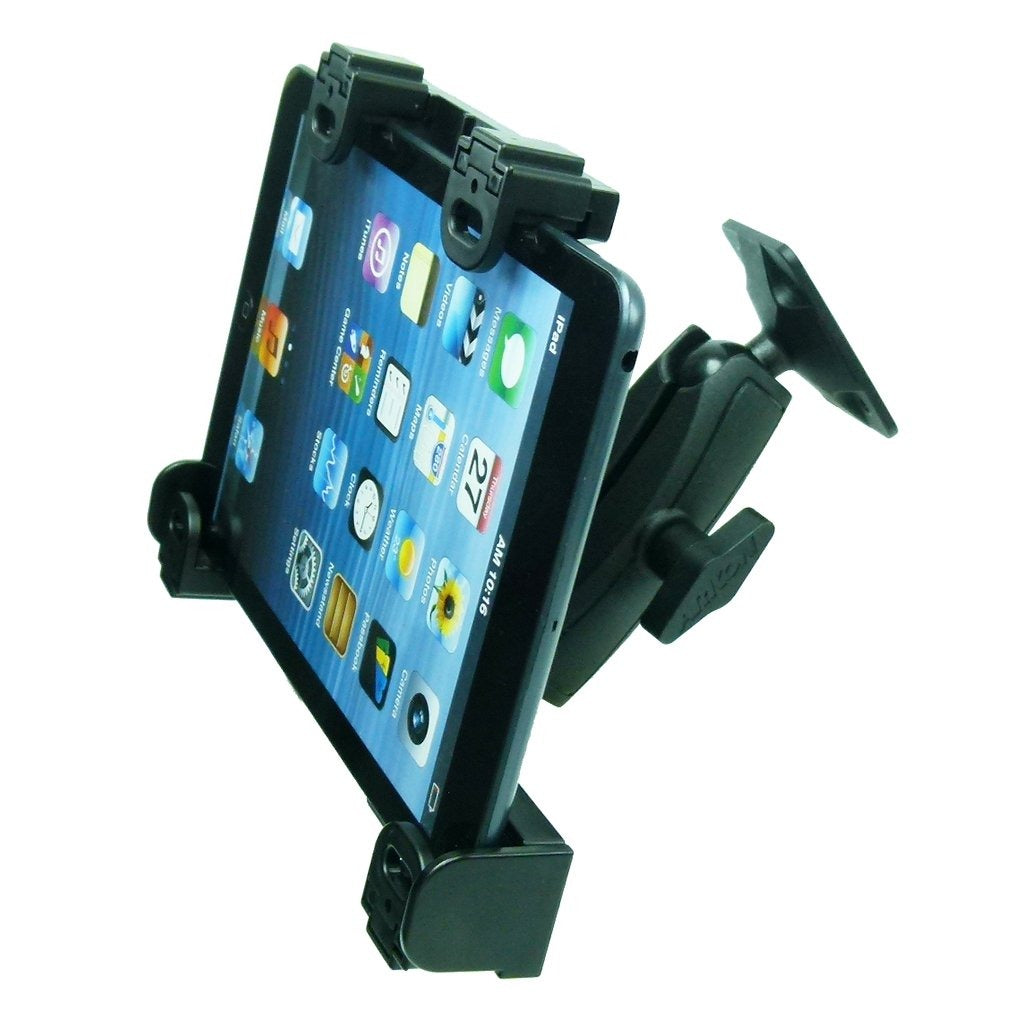 Extended Permanent Screw Fix Adjustable Tablet Holder with Key Lock for Apple iPad Mini 2019 (sku 50526) - BuyBits Ltd UK