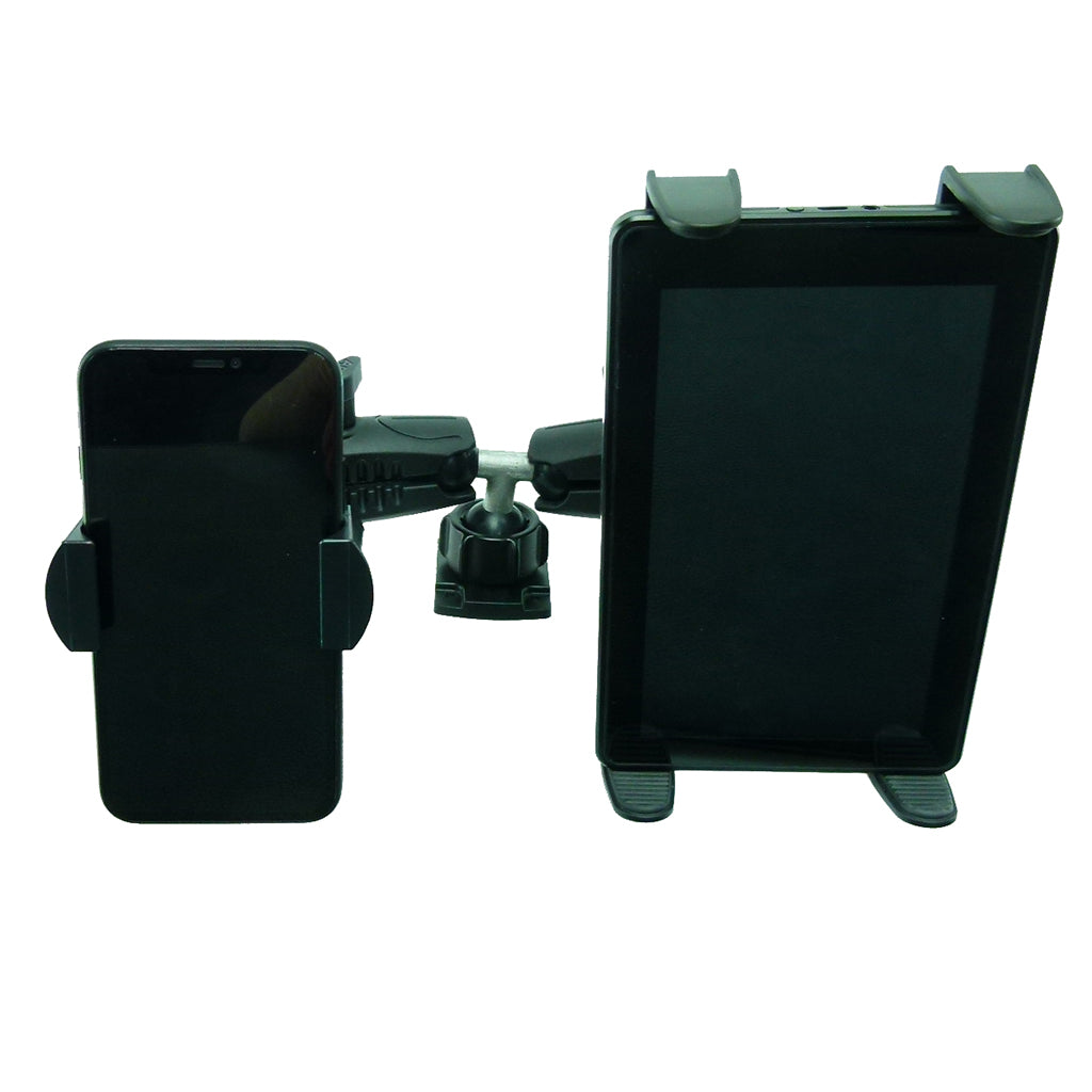 Permanent Screw Fix Fleet Dash Dual Multiple Mount Holds Tablet and Phone (sku 44101)