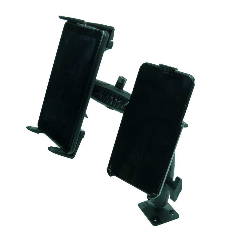 "Permanent Screw Fleet Dash Multiple Mount Holds Tablet and iPhone 7 (4.7"") (sku 44111)"
