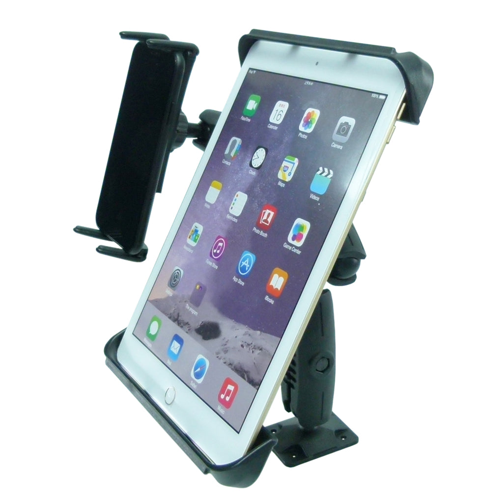 "Permanent Screw Fix Fleet Dual Dash Mount with 10"" tablet holder and phone holder (sku 44153)"