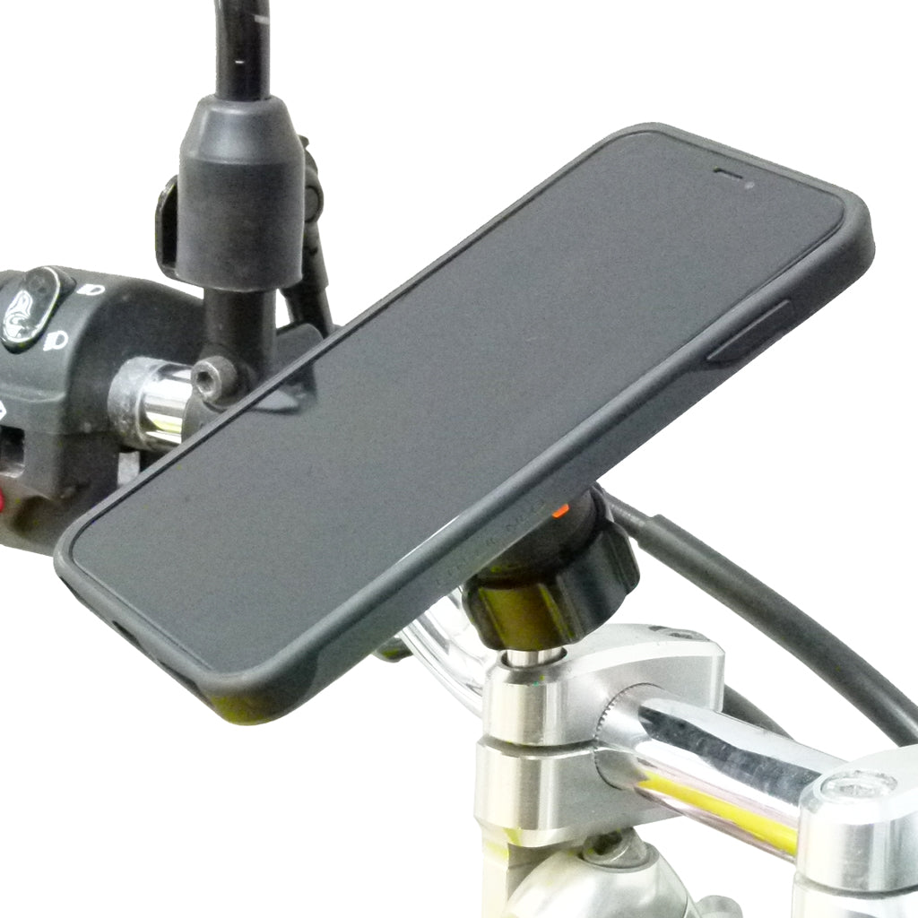 Motorcycle Bundle with TiGRA Fitclic Neo & M8 Handlebar Mount for iPhone XR (sku 45711)