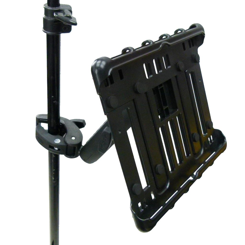 "Extended Music Stand Robust Clamp Tablet Holder for iPad 10.2"" (sku 49597) - BuyBits Ltd UK"