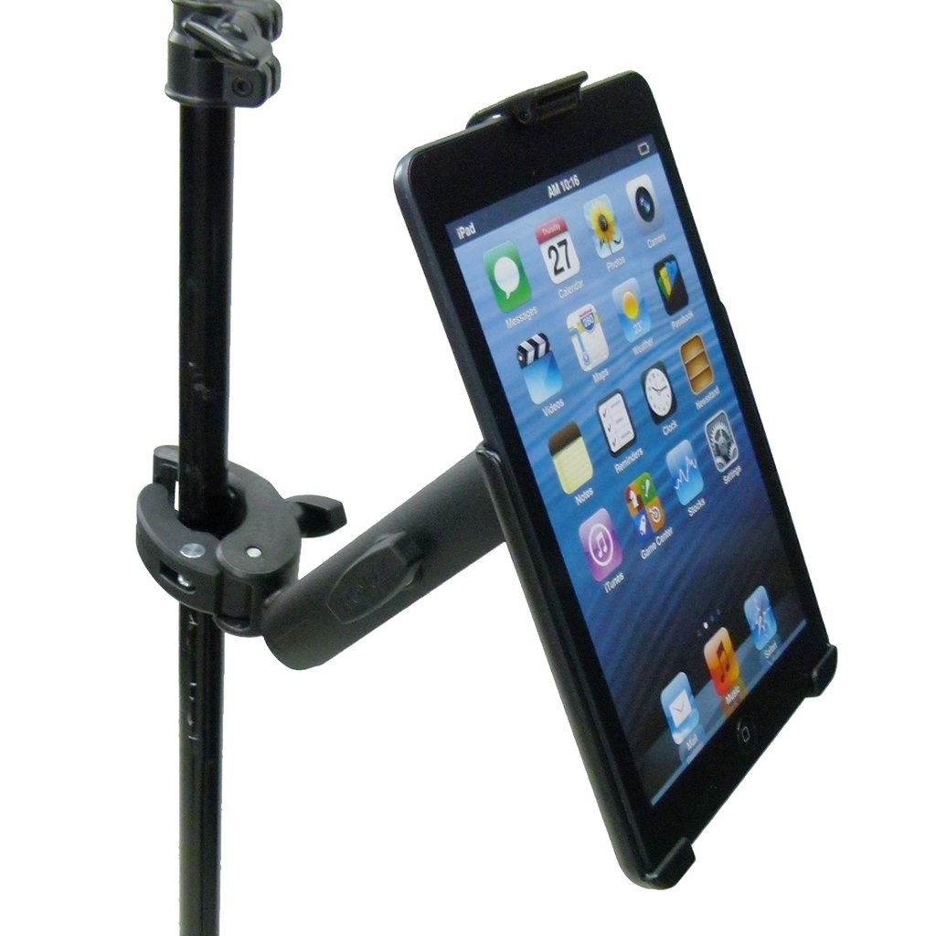 Extended Dedicated Music Stand Robust Clamp Tablet Holder for iPad Mini 1-3 (sku 49602) - BuyBits Ltd UK