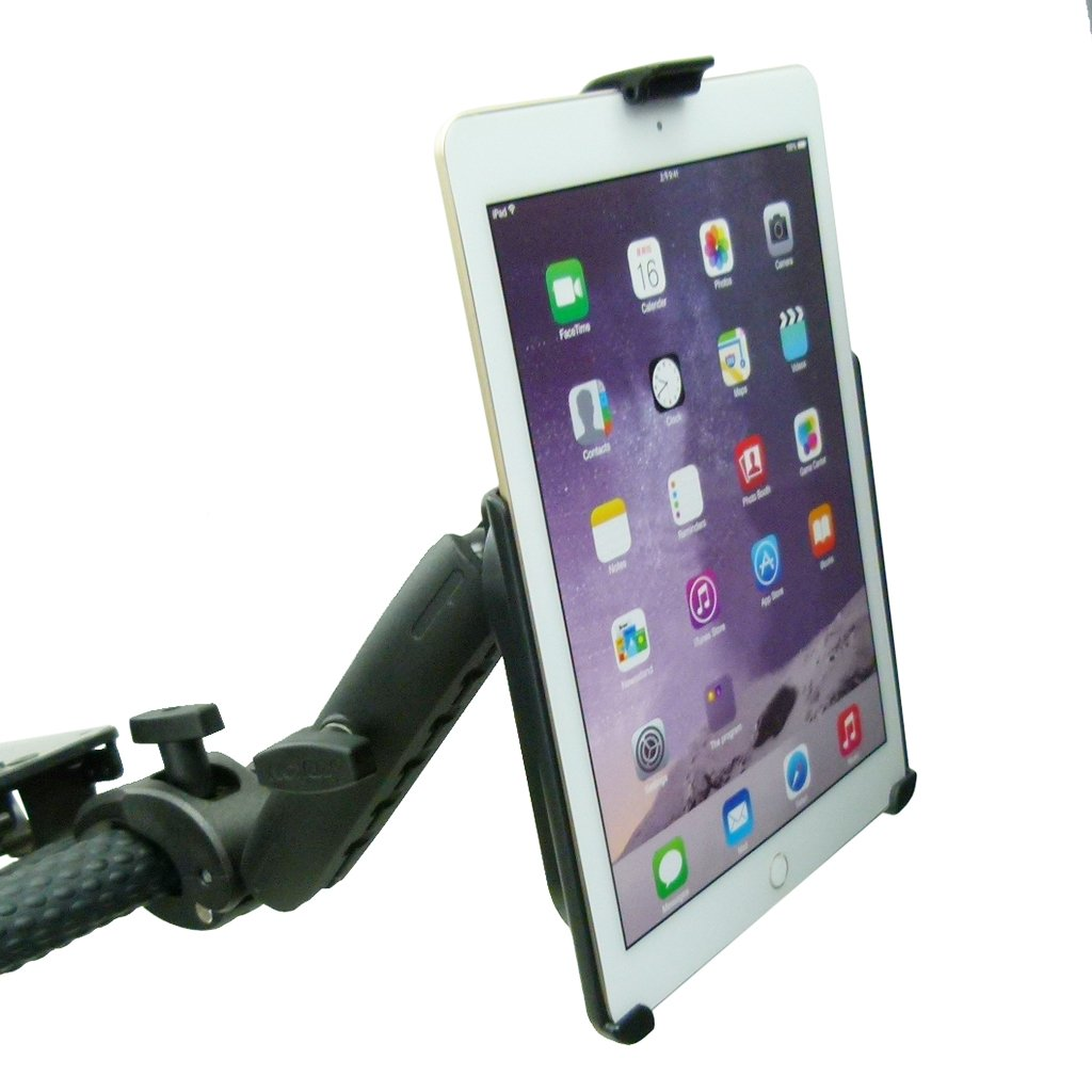 Extended Dedicated Golf Trolley Robust Clamp Tablet Holder for iPad Air 2 (sku 49638) - BuyBits Ltd UK