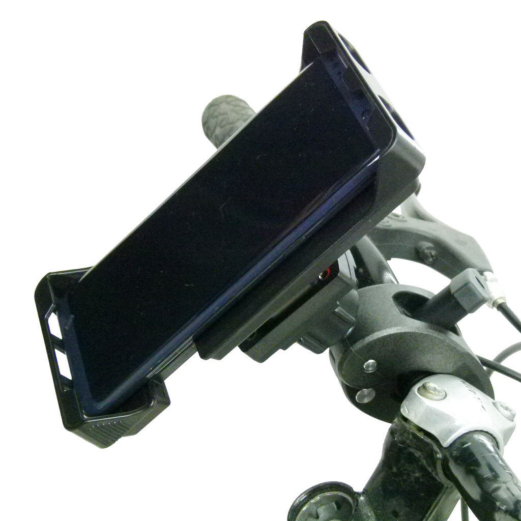 Adjustable Robust Bike Clamp Mount with Rain Cover for Samsung Galaxy S10 Lite (sku 50712) - BuyBits Ltd UK