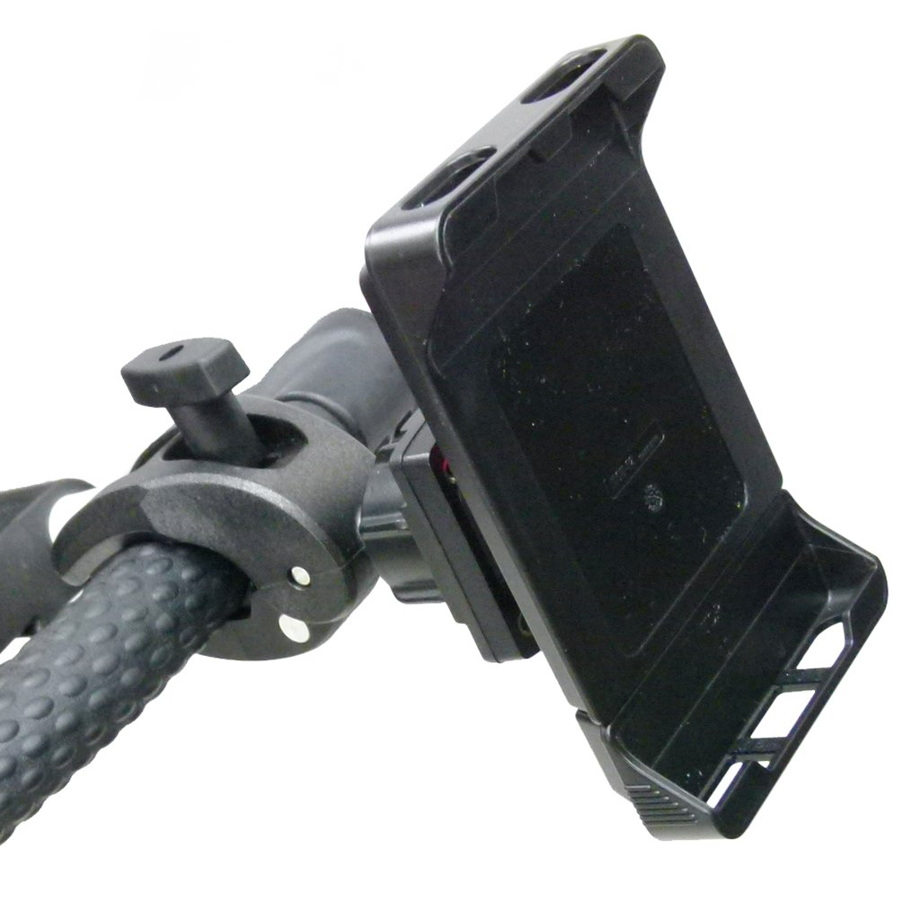 Adjustable Robust Golf Trolley Clamp Mount with Rain Cover for Samsung Galaxy S10 (sku 49782) - BuyBits Ltd UK
