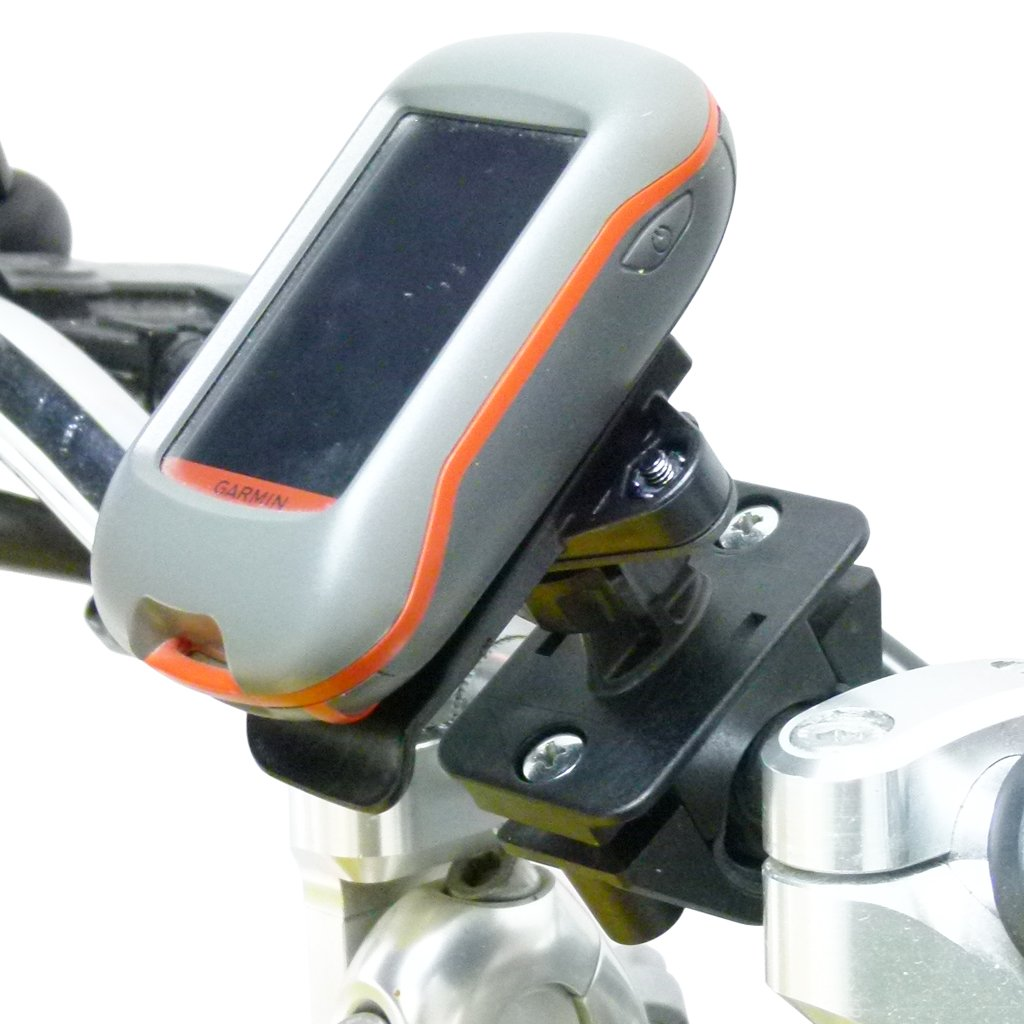 Motorbike Handlebar Mount & Dedicated Cradle for Garmin Dakota 10 - 20 (sku 50094) - BuyBits Ltd UK