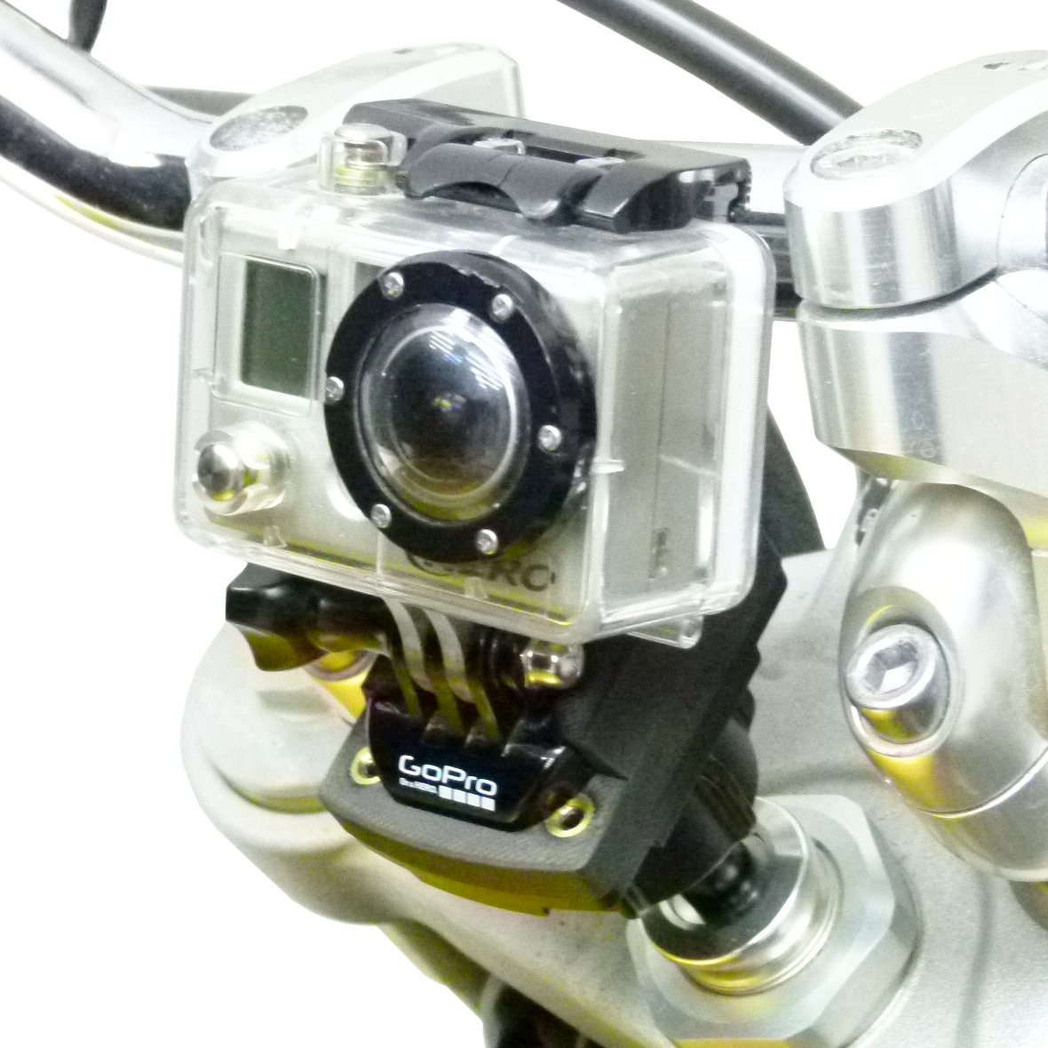 15-17mm Motorcycle Fork Stem Mount & GoPro Camera Plate adapter (sku 50190) - BuyBits Ltd UK