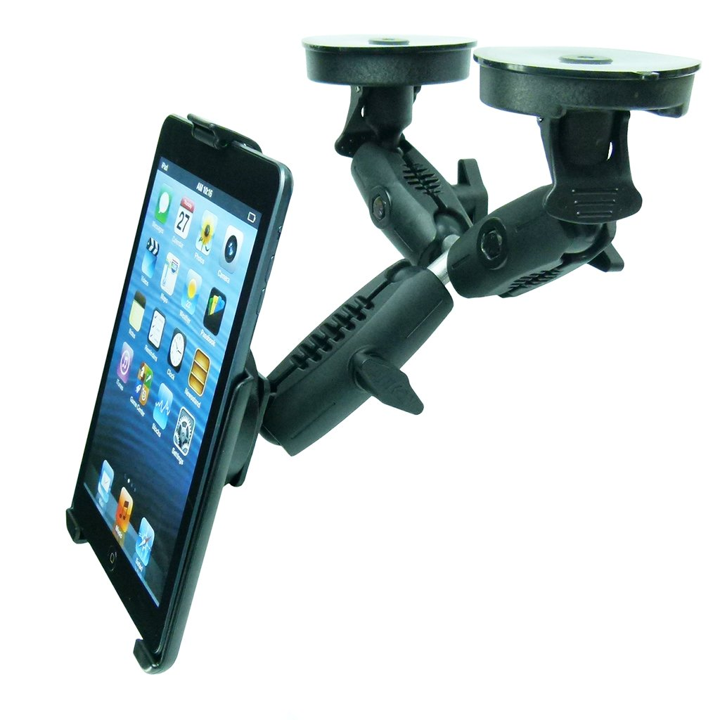 Dedicated Robust Double Windshield Suction Mount for Heavy Machinery fits iPad Mini 1 - 3 (sku 50259) - BuyBits Ltd UK