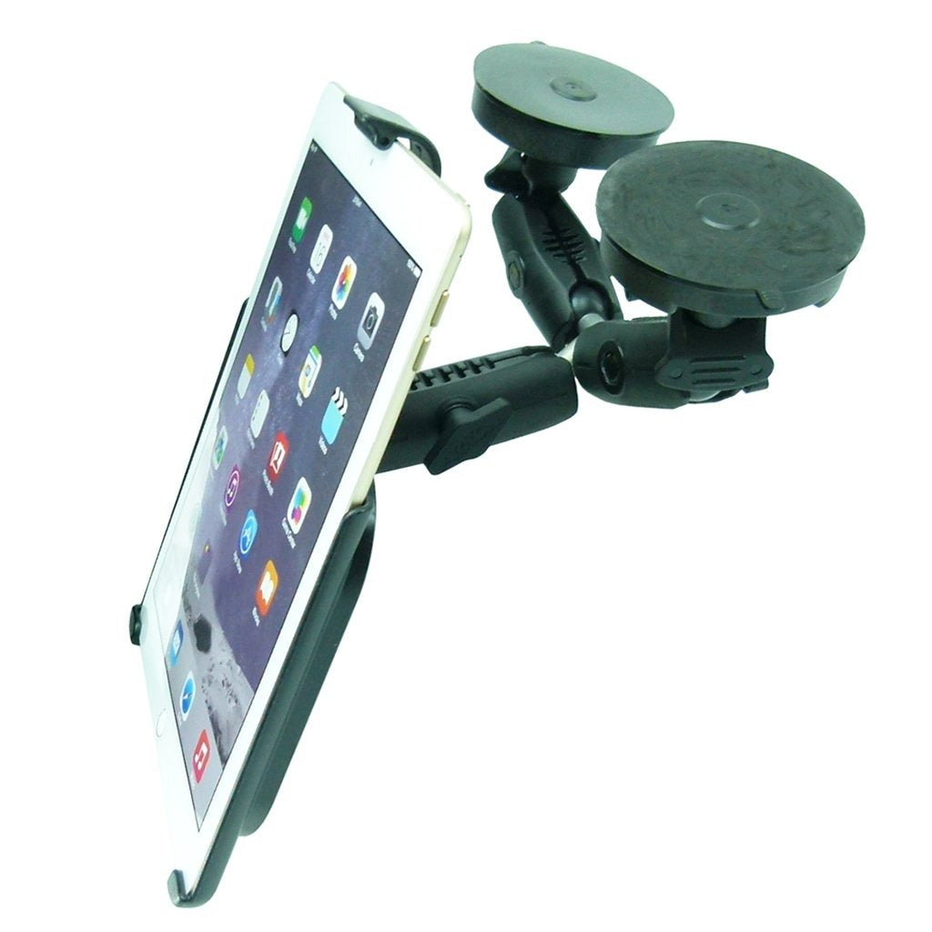 "Dedicated Robust Double Windshield Suction Mount for Heavy Machinery fits iPad PRO 10.5"" (sku 50262) - BuyBits Ltd UK"