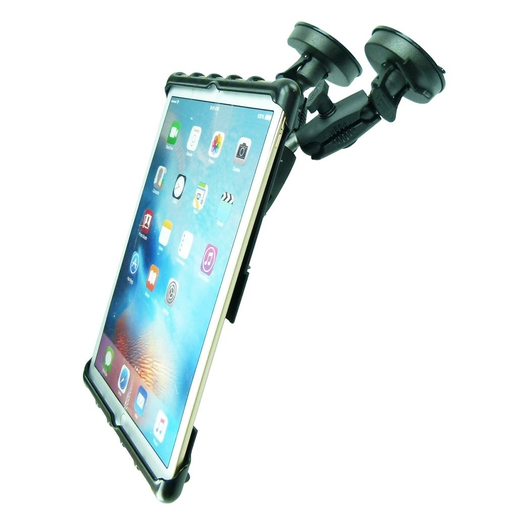 "Adjustable Robust Double Windshield Suction Mount for Heavy Machinery fits iPad PRO 12.9"" (sku 50267) - BuyBits Ltd UK"