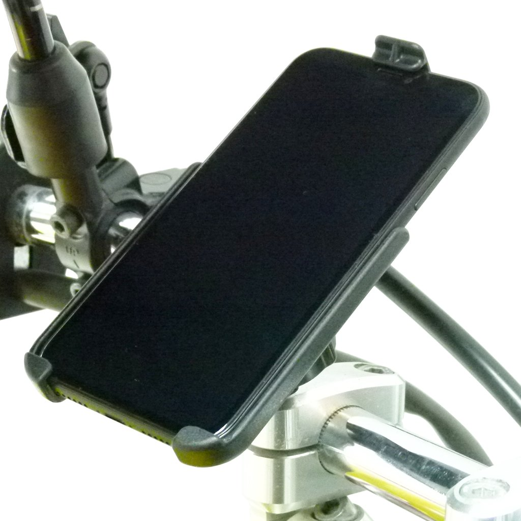 M8 Motorcycle Handlebar Mount with Dedicated RAM Holder for iPhone XR (sku 50309) - BuyBits Ltd UK