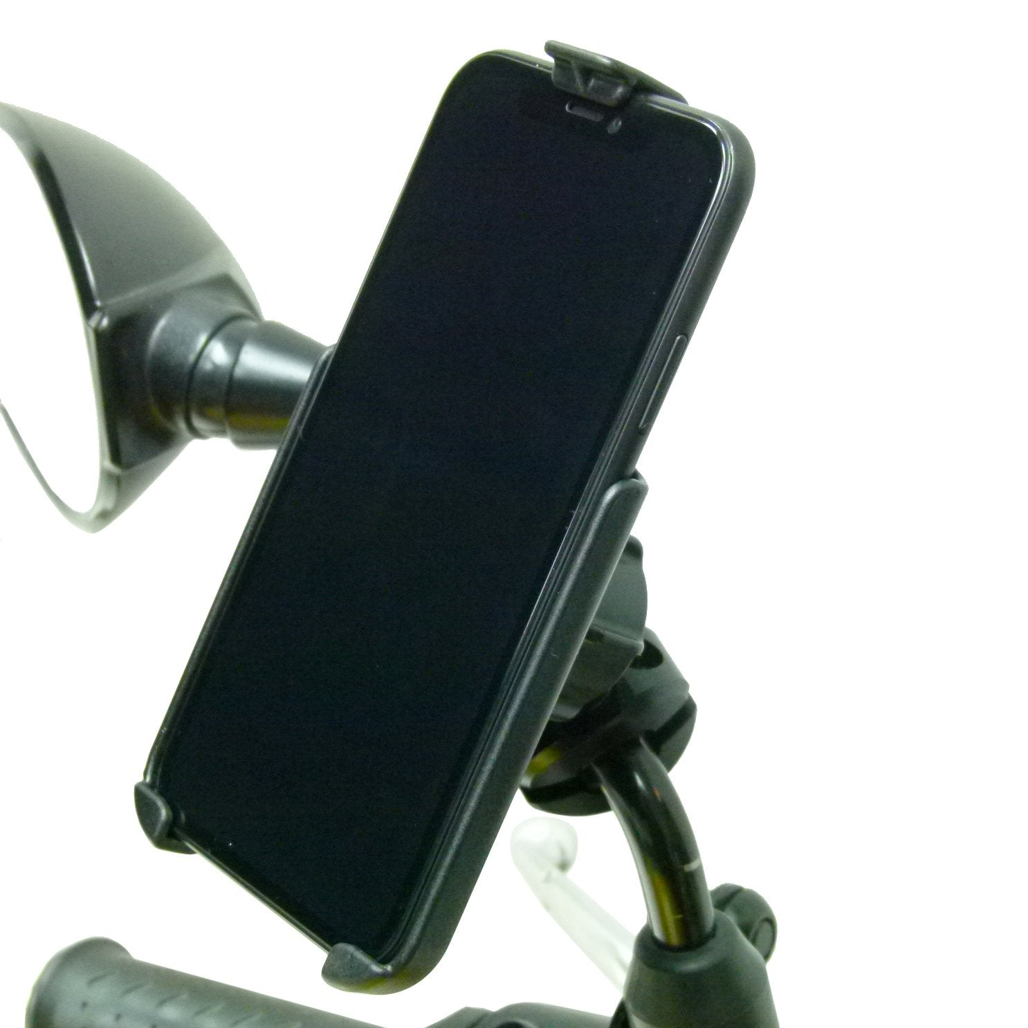 Motorcycle - Scooter Mirror Mount with Dedicated RAM Holder for iPhone 11 (sku 50291) - BuyBits Ltd UK