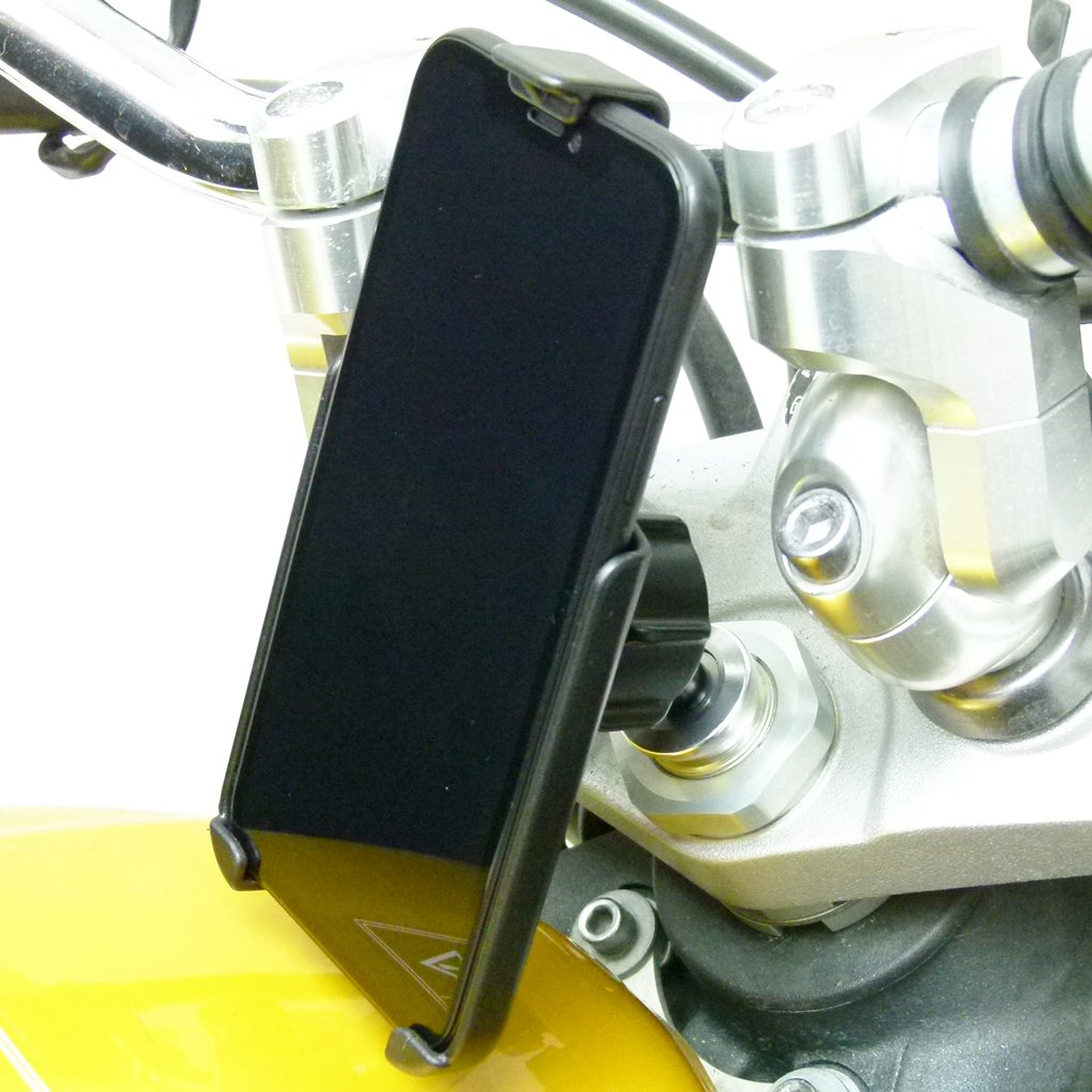 15-17mm Motorcycle Fork Stem Mount with Dedicated RAM Holder for iPhone 8 PLUS (sku 50352) - BuyBits Ltd UK