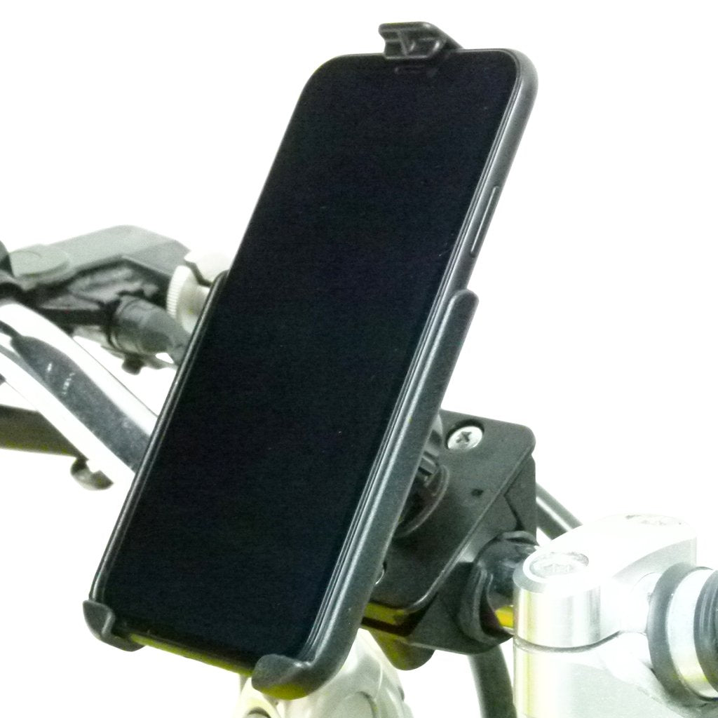 Motorcycle Handlebar Mount with Dedicated RAM Holder for iPhone 8 PLUS (sku 50363) - BuyBits Ltd UK