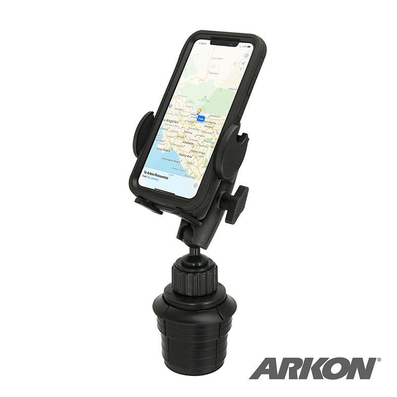 Arkon SM4RM023 Robust Universal Car Cup Holder Phone Mount for iPhone XS, XR, 8, 7 Plus (sku 50506) - BuyBits Ltd UK